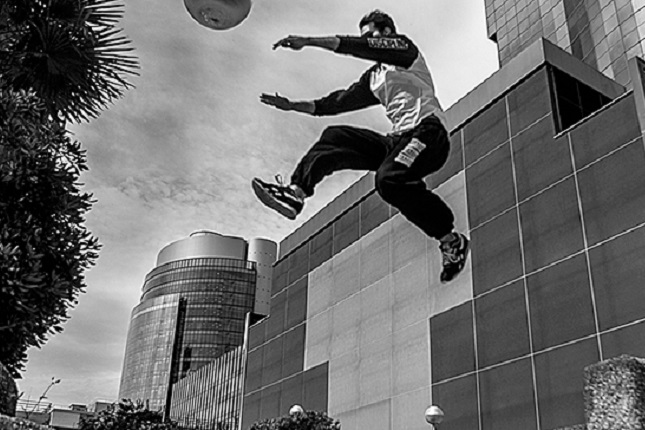 Block Party, exhibición parkour