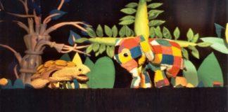 Títeres con Elmer, el elefante