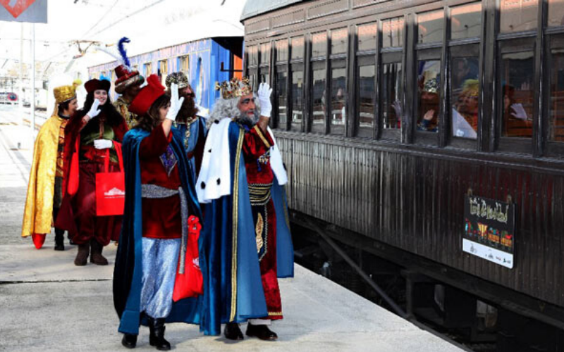 tren de navidad madrid, tren de navidad museo del ferrocarril, tren de navidad