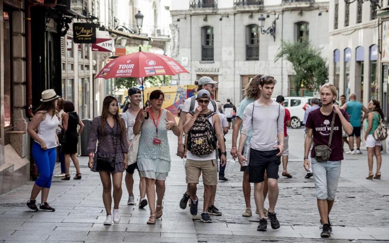 turistas extranjeros madrid, turismo madrid