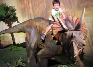 dinosaurios en casa de campo