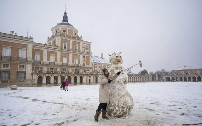 nieve en madrid museos